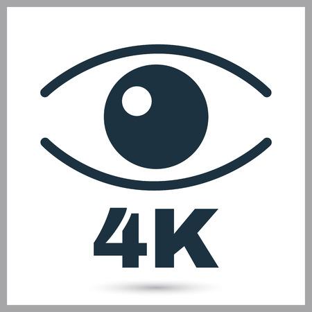 video quality simple icon Illustration