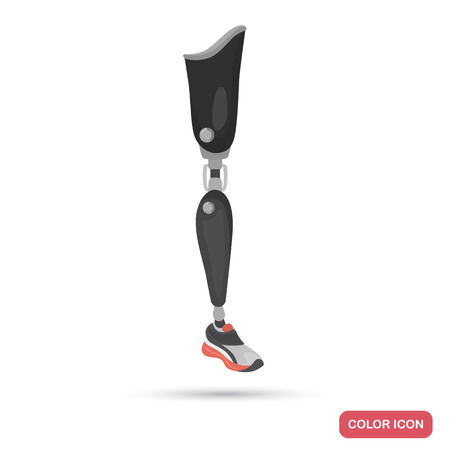 Prosthetic leg color flat icon