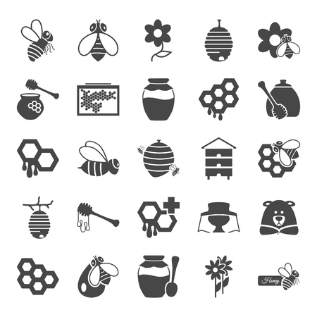 Bee keeping simple design icons set for web and mobile design Stock fotó - 101156998