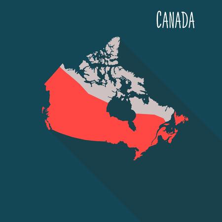 Canada territory color flat illustration