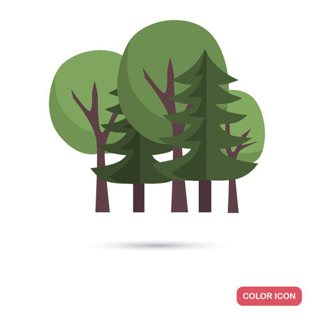 Mixed forest color flat icon Ilustrace