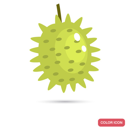 Durian fruit color flat icon Ilustrace