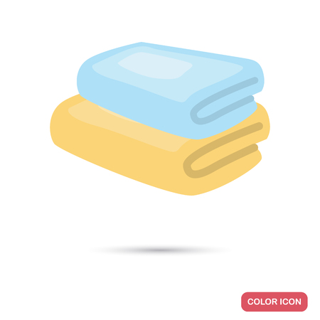 Bath towels color flat icon