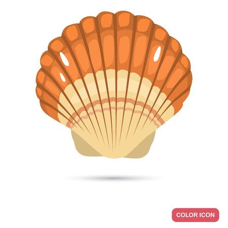 Sea shell cartoon color high quality icon