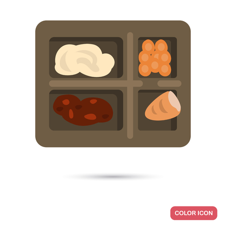 Prison food color flat icon for web and mobile design