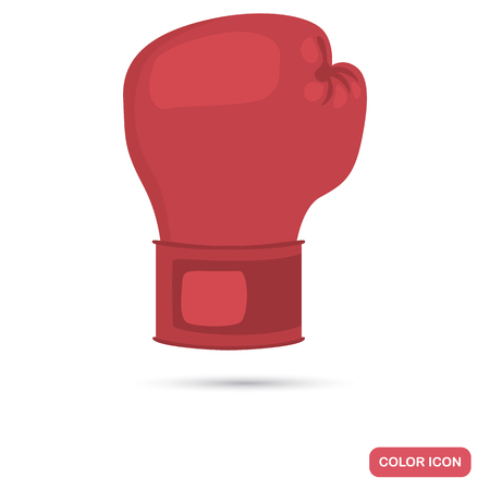 Boxing glove color flat icon for web and mobile design
