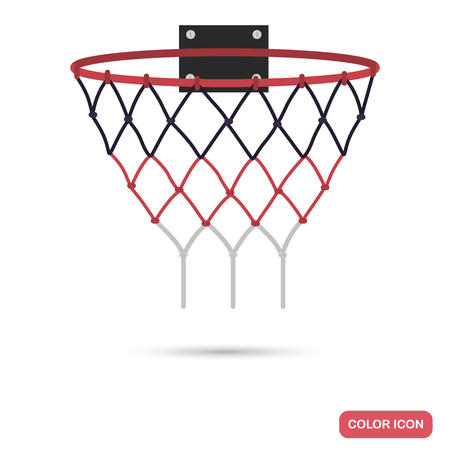 Basketball ring color flat icon