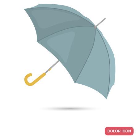 Umbrella color flat icon for web and mobile design