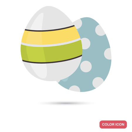 Easter eggs color flat icon for web and mobile design