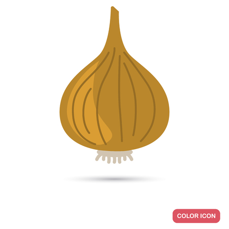 Onion color flat icon for web and mobile design