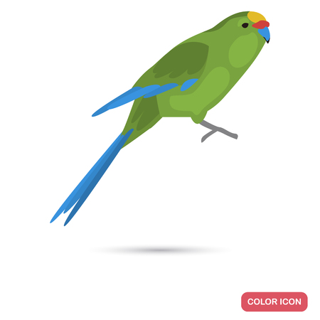 Yellow parrot color flat icon for web and mobile design