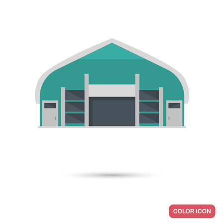Cargo warehouse color flat icon for web and mobile design
