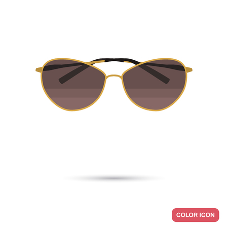 Sunglasses color flat icon for web and mobile design