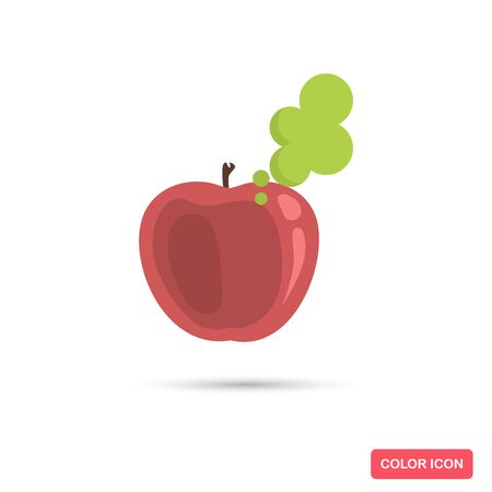 Poison apple color flat icon for web and mobile design