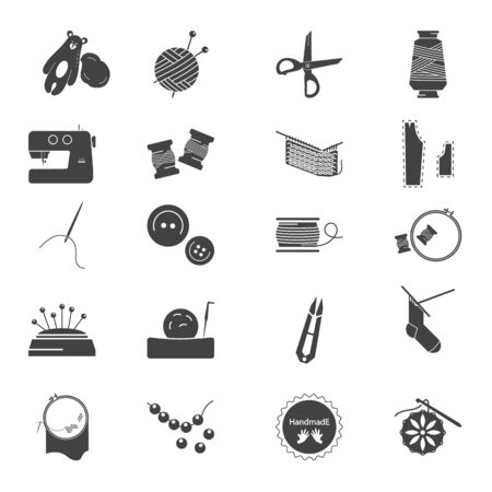 Handmade simple icons se for web and mobile design Çizim