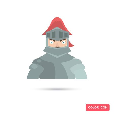 Iron Knight color flat icon for web and mobile design