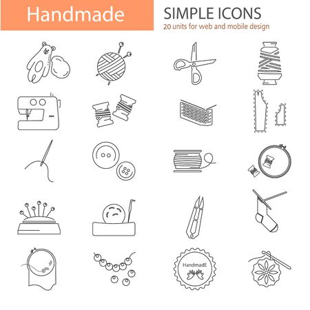 Handmade line icons se for web and mobile design
