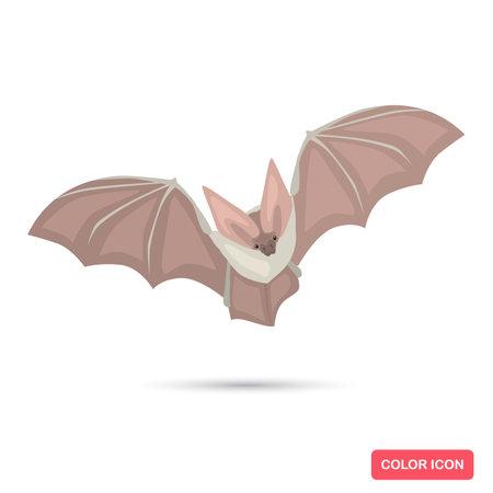 Bat animal color flat icon