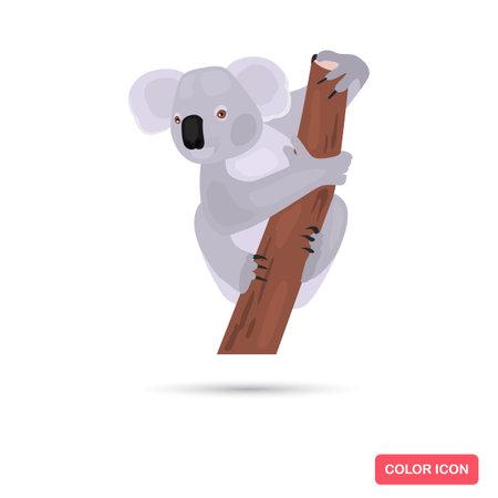 Koala animal color flat icon