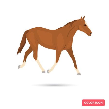 Horse animal color flat icon Ilustracja