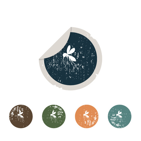 anopheles: Mosquito icon Stock Photo