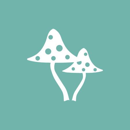 foot fungus: Poisonous mashroom icon