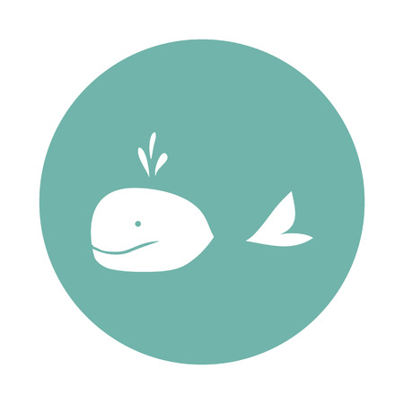 vanish: Whale icon Stock Photo