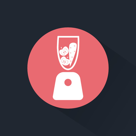 licuadora: Blender con manzana y zanahoria