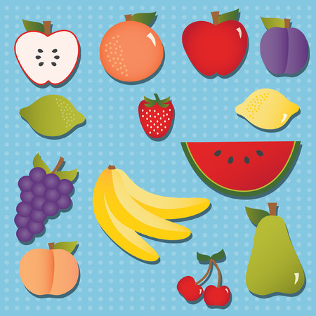 apples and oranges: Fruity Icon Set