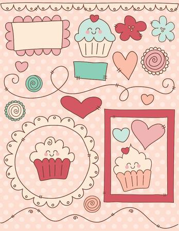 Cute Cupcakes Scrapbook Set