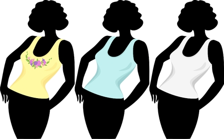 Women`s T-shirts Stock Vector - 7256974