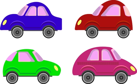 colored cars in the style of the seventies of last century Stock Vector - 7353281