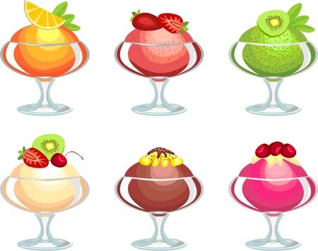 eating ice cream: Ice cream  Illustration