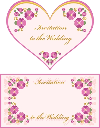 invitation to the wedding  Vector
