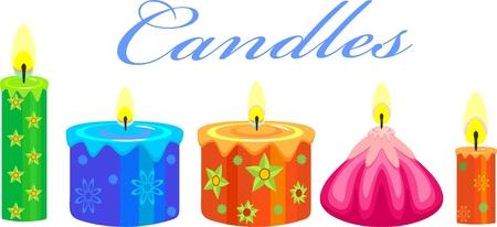 Festive Candles Vector