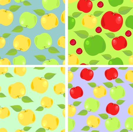 wallpaper with colorful apples Vector