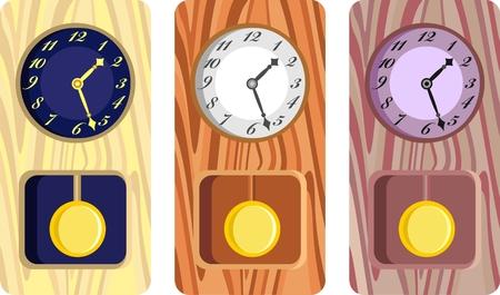 antique clocks Stock Vector - 7480102