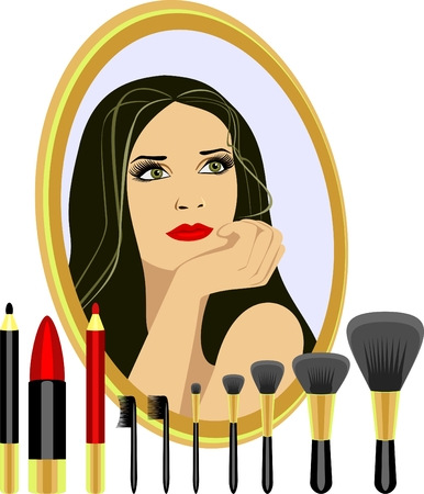 Set  for makeup Stock Vector - 7649604