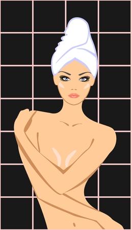 young girl bath: Spa beauty