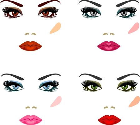 eyebrow makeup: Trucco per gli occhi di diversi colori di sera