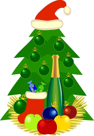 Christmas still life Stock Vector - 8152086