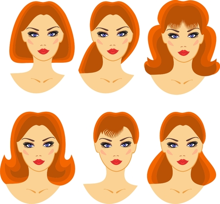 brow: hairstyles for a young girl with red hair