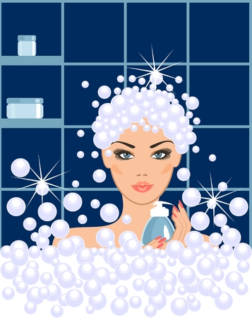 skincare facial: Spa beauty   Illustration