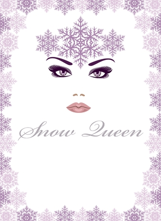 beauty queen: Snow  Queen   Illustration