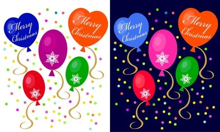 Christmas balloons Stock Vector - 8347120