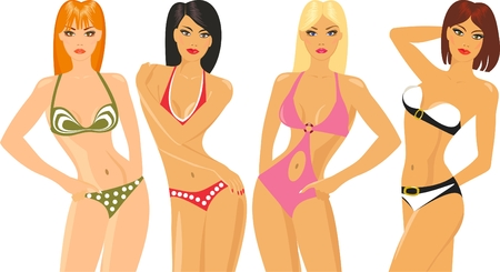 bikini model: bikini show