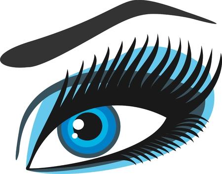 eyebrow makeup: Occhi della donna verdi