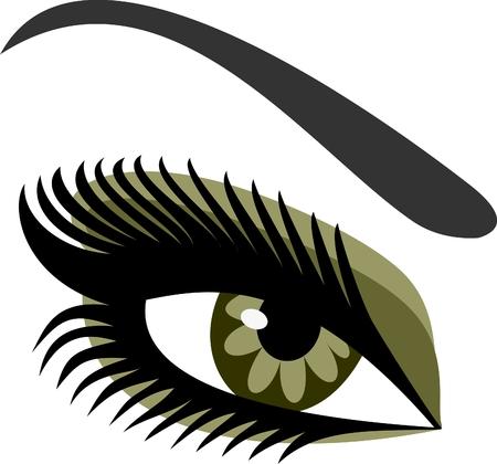 Azules de ojos de la mujer Ilustración de vector