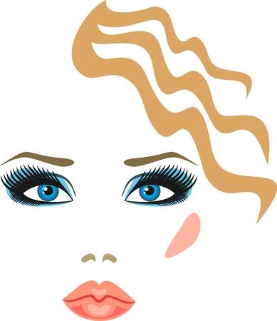 brow: trucco per bionde con gli occhi blu
