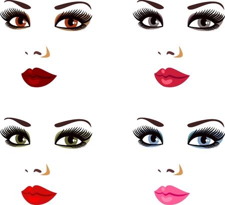 glamour makeup: makeup Illustration